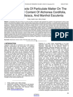 Ecological Effects of Particulate Matter on the Histochemical Content of Alchonea Cordifolia Musa Paradisiaca and Manihot Esculenta