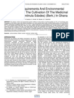 Nutrient Requirements and Environmental Conditions for the Cultivation of the Medicinal Mushroom Lentinula Edodes Berk in Ghana
