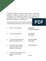 Uganda Cabinet 2015 March