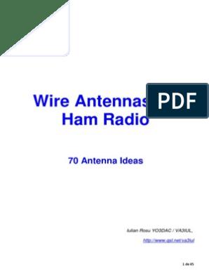 Antenna - Wire Antennas for Ham Radio - 70 Antenna Ideas pdf