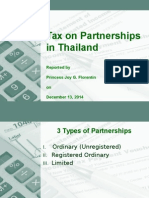 Taxation of Partnerships in Thailand