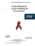 Trainer's Manual for Capacity Building in Procurement Using World Bank & IDA Rules