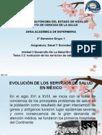 Evolucion de Losservicios de Salud en Mexico