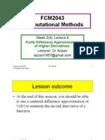 Computational Method - Higher Derivatives