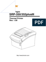 Manual Srp-350352plusiii Code Pages English Rev 1 00