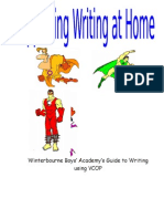 supporting writing at home vcop