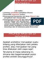 3 Profesi Arsitek & 13 Butir Kompetensi Di Indonesia