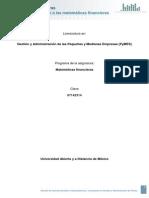 Unidad 1. Introducción a Las Matemáticas Financieras