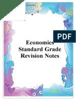 Economics Standard Grade Revision Notes