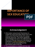 Importance of Sex Education