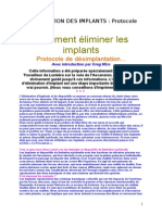 l'Elimination Des Implants (Protocole)