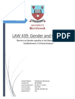 Barriers to Gender equality in the Botswana Legal Establishment