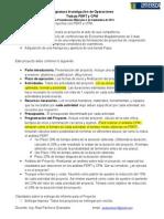 Trabajo PERT - CPM Proyecto 2014-2