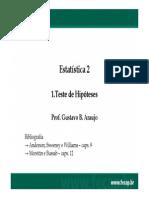 1.2 Testes de Hipótese - 2a Parte