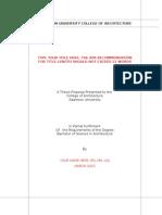 AdU Thesis Format - Archi