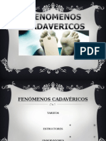FENOMENOS CADAVERICOSS