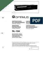 Instrucciones SL104