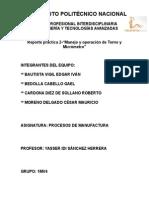 Práctica 2-Manejo y Operación de Torno y Micrómetro