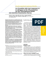 Prevalences of positive skin test responses to 10 common allergens in the US population