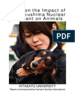 Study on the Impact of the Fukushima Nuclear Accident on Animals