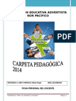 Carpeta Pedagógica 2014 -Nelson LIMAY