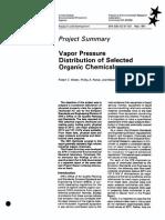 Vapor Pressure Distribution of Organic Chemicals