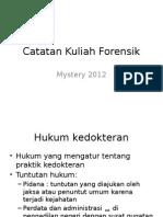 Catatan Kuliah Forensik