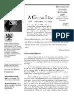 Chorus Line (Pioneer) Study Guide
