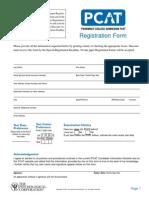 PCAT- 2008-2009 Paper Registration Form