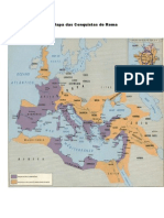 Mapa Das Conquistas de Roma