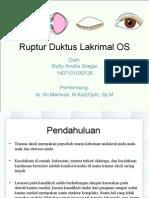 Ruptur Duktus Lakrimalis OS