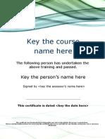 Certificate 3