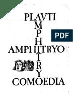 Amphitryo-Plauti comoedia