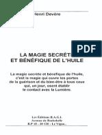La Magie Secrète Et Bénéfique de l'Huile