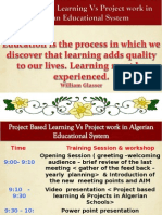 Meeting and Workshop Project Based Learning February 4th 2014 by Mr.samir Bounab