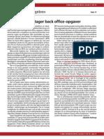 Robotter overtager Back Office-opgaver