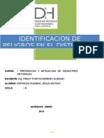 Identificacion de Peligros- Distrito San Rafael