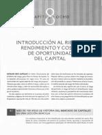 Cap 8 - Riesgo, Rendimiento y Costo de Oportunidad Del Capital (1)