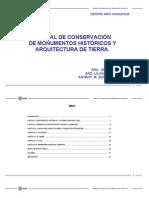 Manual de Conservacion de Monumentos Históricos