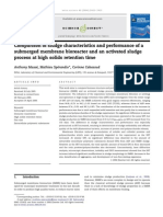 Comparison of sludge characteristics and performance of a submerged membrane bioreactor and an activated sludge process at high solids retention time