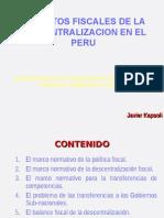 ASPECTOS FISCALES - PROCESO DE DESCENTRALIZACION.ppt