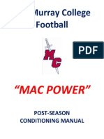 MacMurray Football Post Season Workouts