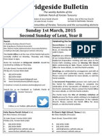 2015-03-01 - 2nd Lent B