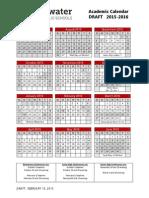 2015-16 Parent Calendar DRAFT