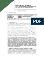 Programa Derecho Administrativo