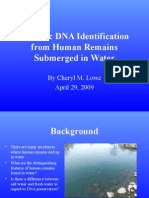 Forensic Dna Identification Submerged Warter