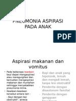 Pneumonia Aspirasi Pada Anak