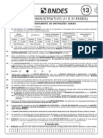 Prova BNDES 2012 Técnico Administrativo
