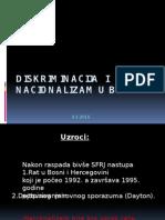 Diskriminacija  i   nacionalizam u BiH.pptx