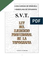 Ley Del Ejercicio de La Topografia